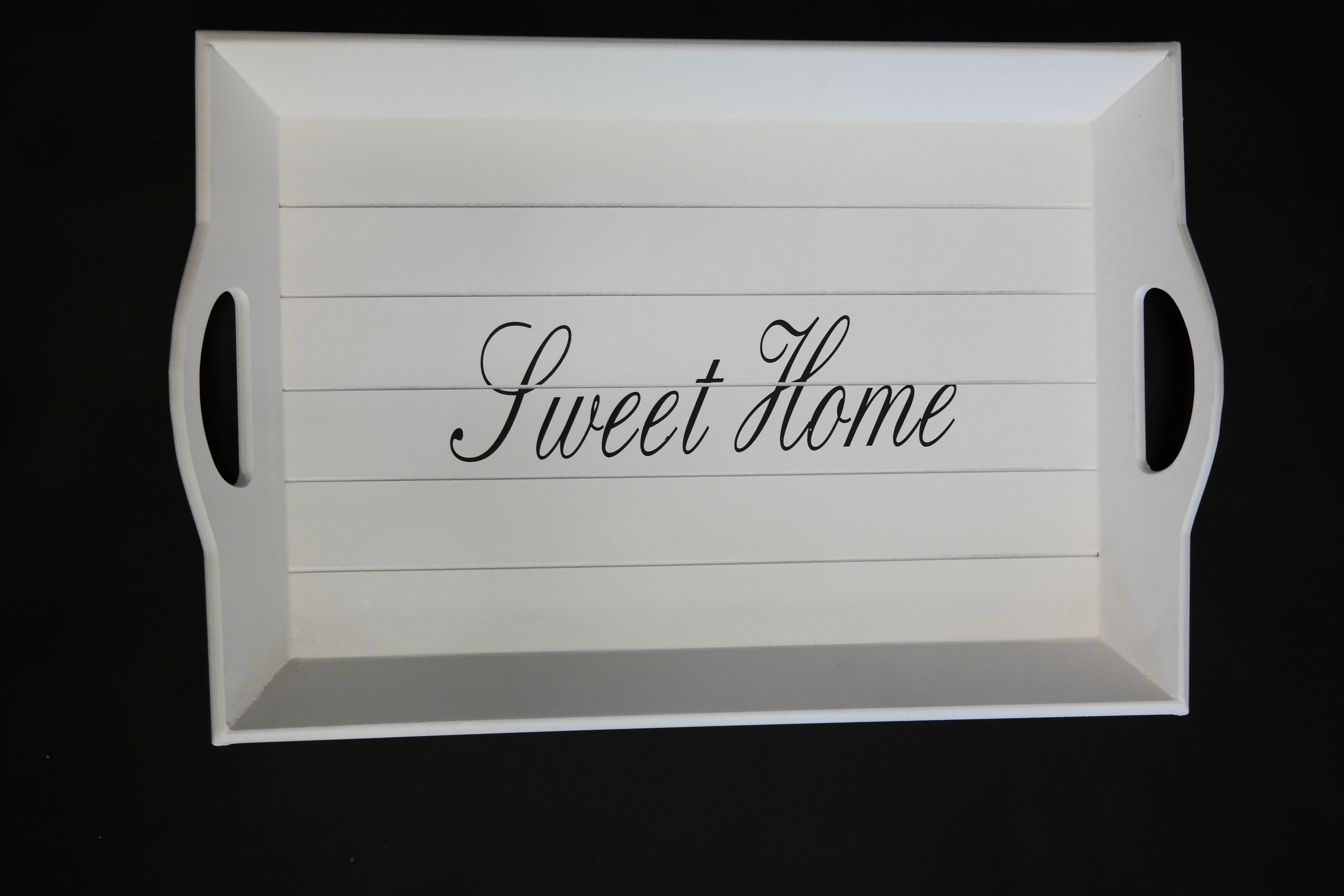 home affaire tablett sweet home wei online kaufen bei woonio. Black Bedroom Furniture Sets. Home Design Ideas