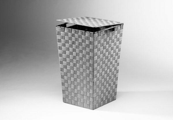 Home affaire Wäschebehälter aus Nylon und Metall grau
