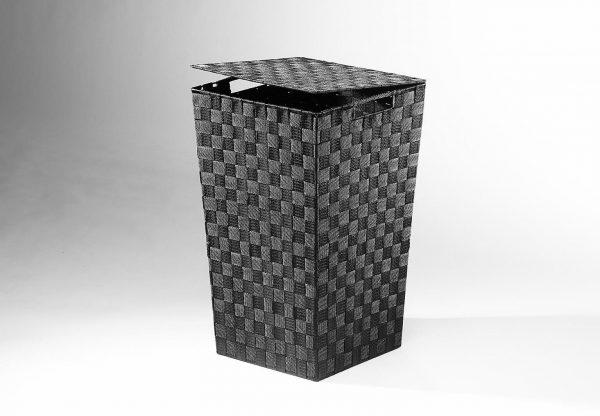 Home affaire Wäschebehälter aus Nylon und Metall schwarz