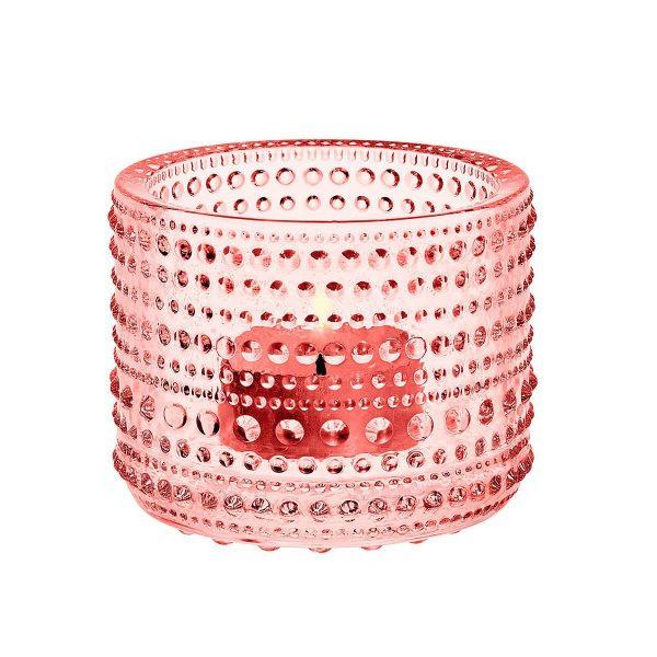 IITTALA Iittala Teelichthalter KASTEHELMI Lachs 6.4 cm rosa
