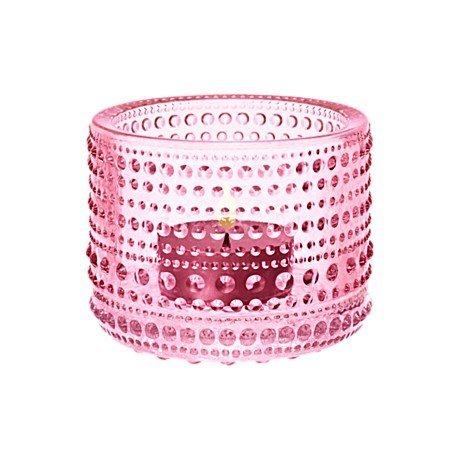 IITTALA Iittala Teelichthalter KASTEHELMI hellrosa 6.4 cm rosa
