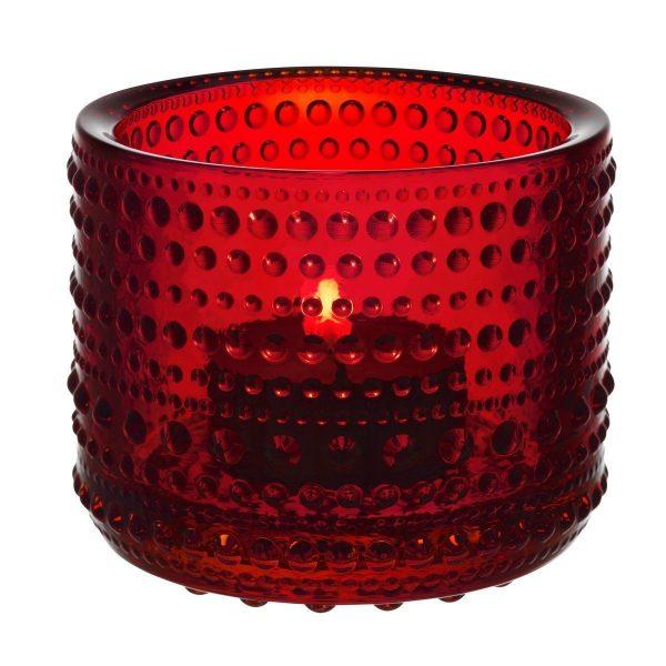 IITTALA Iittala Teelichthalter KASTEHELMI rot 6.4 cm rot