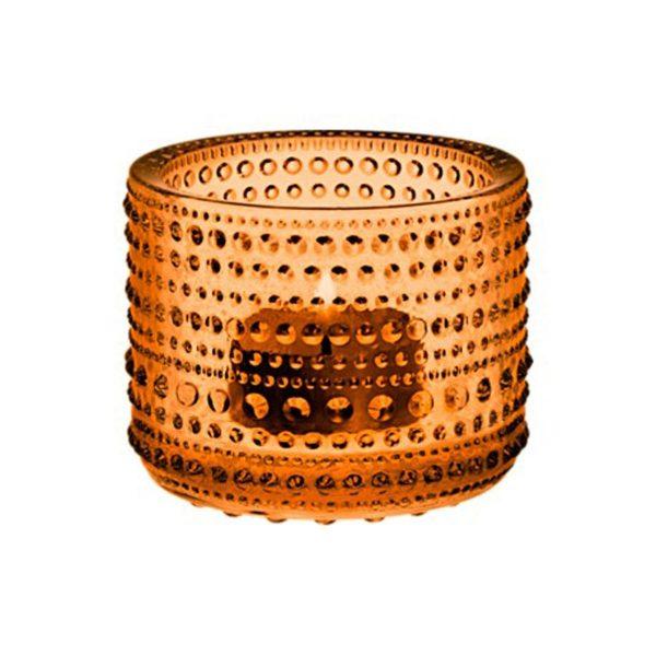 IITTALA Iittala Teelichthalter KASTEHELMI seville orange 6.4 cm orange