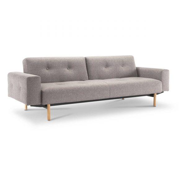 innovation schlafsofa buri stem mit armlehnen grau stoff online kaufen bei woonio. Black Bedroom Furniture Sets. Home Design Ideas