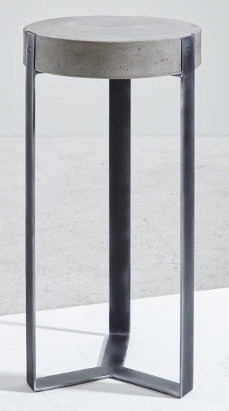 Kasper-Wohndesign Beistelltisch Beton / Rohstahl schwarz »CORA« schwarz