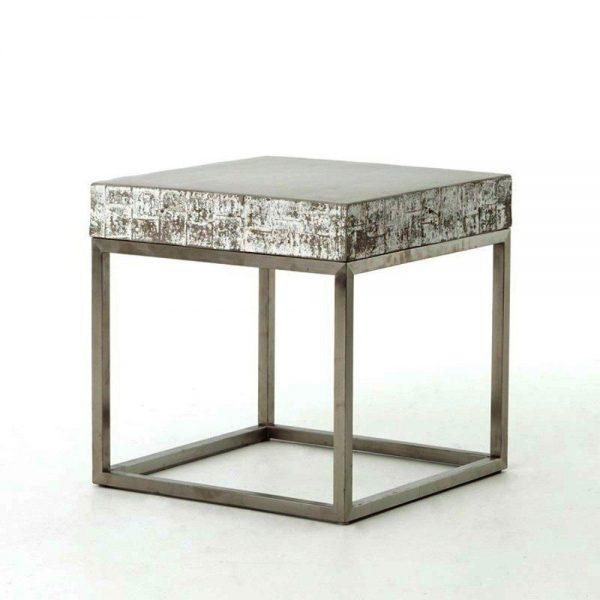 Kasper-Wohndesign Beistelltisch Edelstahlgestell Beton grau »NOHA« grau