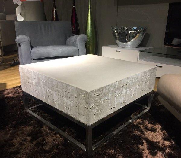 Kasper-Wohndesign Beistelltisch groß Edelstahlgestell Beton grau »NOHA« grau