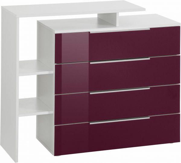 kommode lara breite 97 cm mit 4 schubk sten lila online kaufen bei woonio. Black Bedroom Furniture Sets. Home Design Ideas