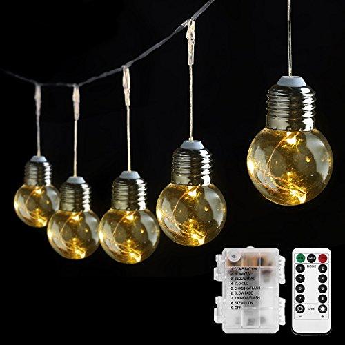 LE-Birne-Lichterkette-warmwei-Kugel-Kupferdraht-Beleuchtung-Deko-fr-Party-Weihnachten-Dekolampe-0