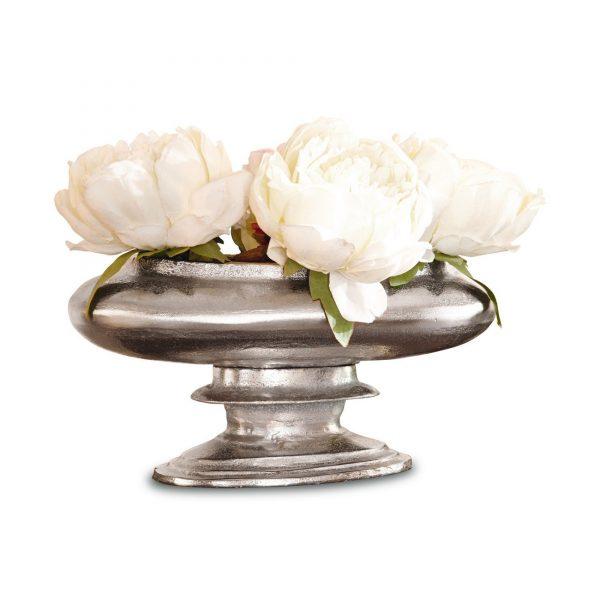 Loberon Vase »Loyère« silberfarben