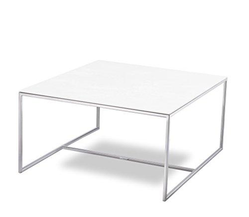 MASSIMILANO-Couchtisch-77x77x40cm-Edelstahl-poliert-Keramik-Tischplatte-0