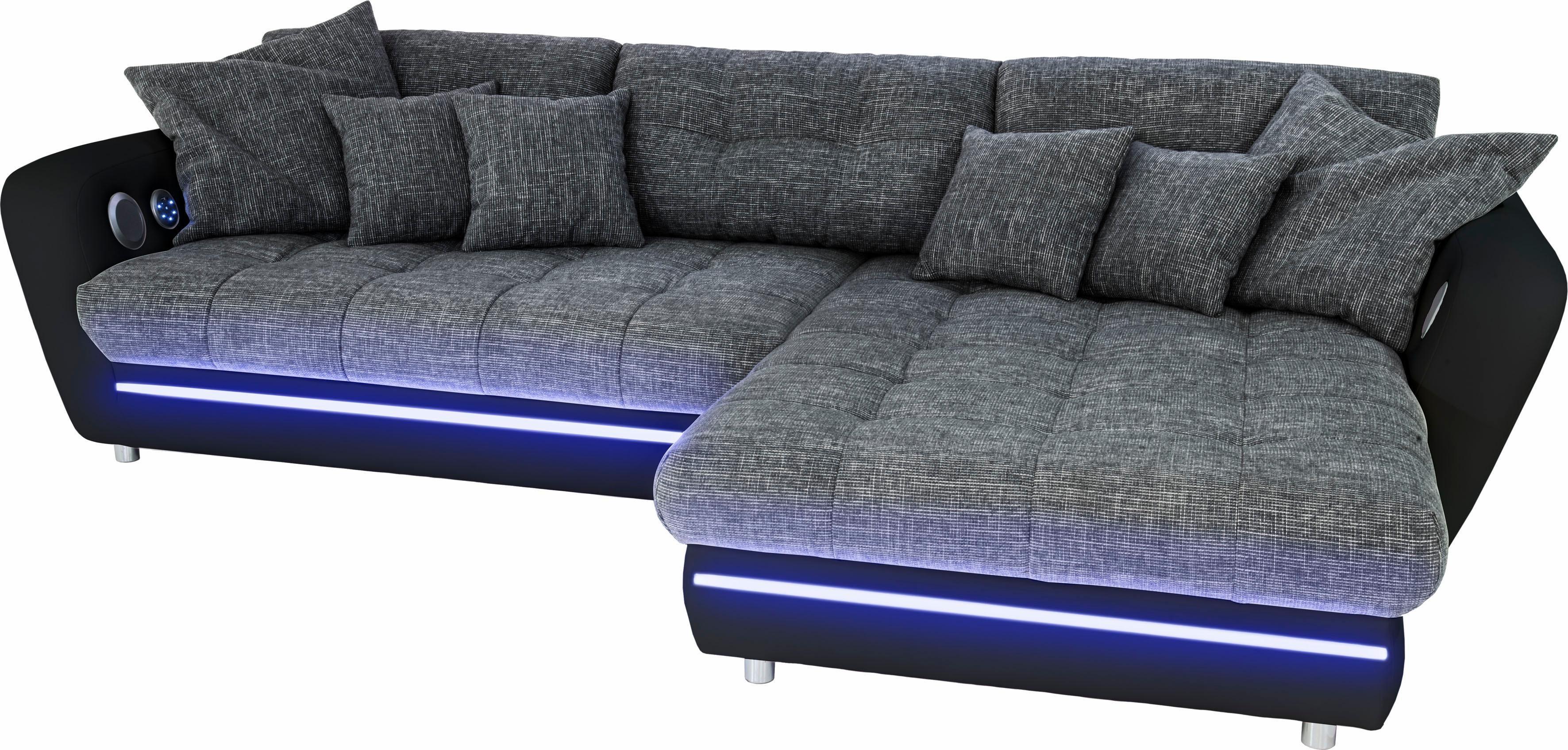 polsterecke wahlweise mit rgb led und bluetooth. Black Bedroom Furniture Sets. Home Design Ideas