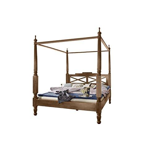 SAM-Design-Himmelbett-aus-Sheesham-Palisander-Holzbett-in-natur-verspieltes-Design-widerstandsfhige-Oberflche-Bett-ist-ein-Unikat-Doppelbett-im-Landhaus-Stil-140-x-200-cm-0