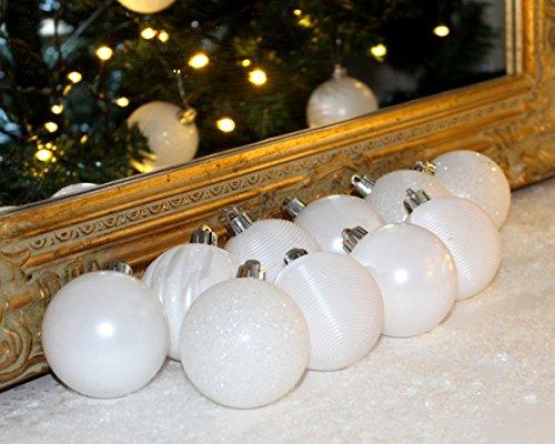 Christbaumkugeln Günstig Kaufen.Set Xxer Christbaumkugeln Weihnachtsbaumkugeln Weiss Kugel Pvc Bruchfest Weihnachten X Cm ø