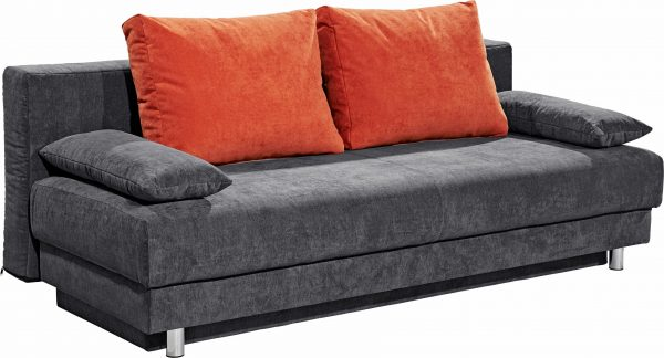 SOFA-TEAM Schlafsofa orange