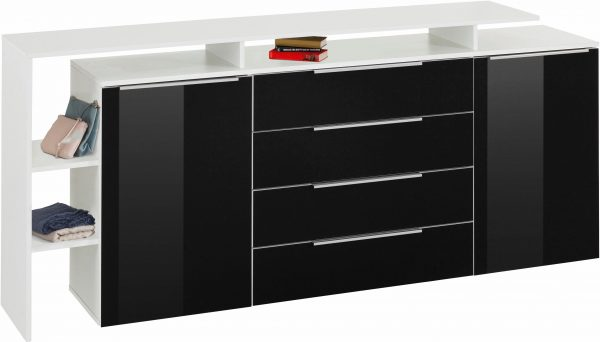 sideboard lara breite 188 cm schwarz online kaufen bei woonio. Black Bedroom Furniture Sets. Home Design Ideas