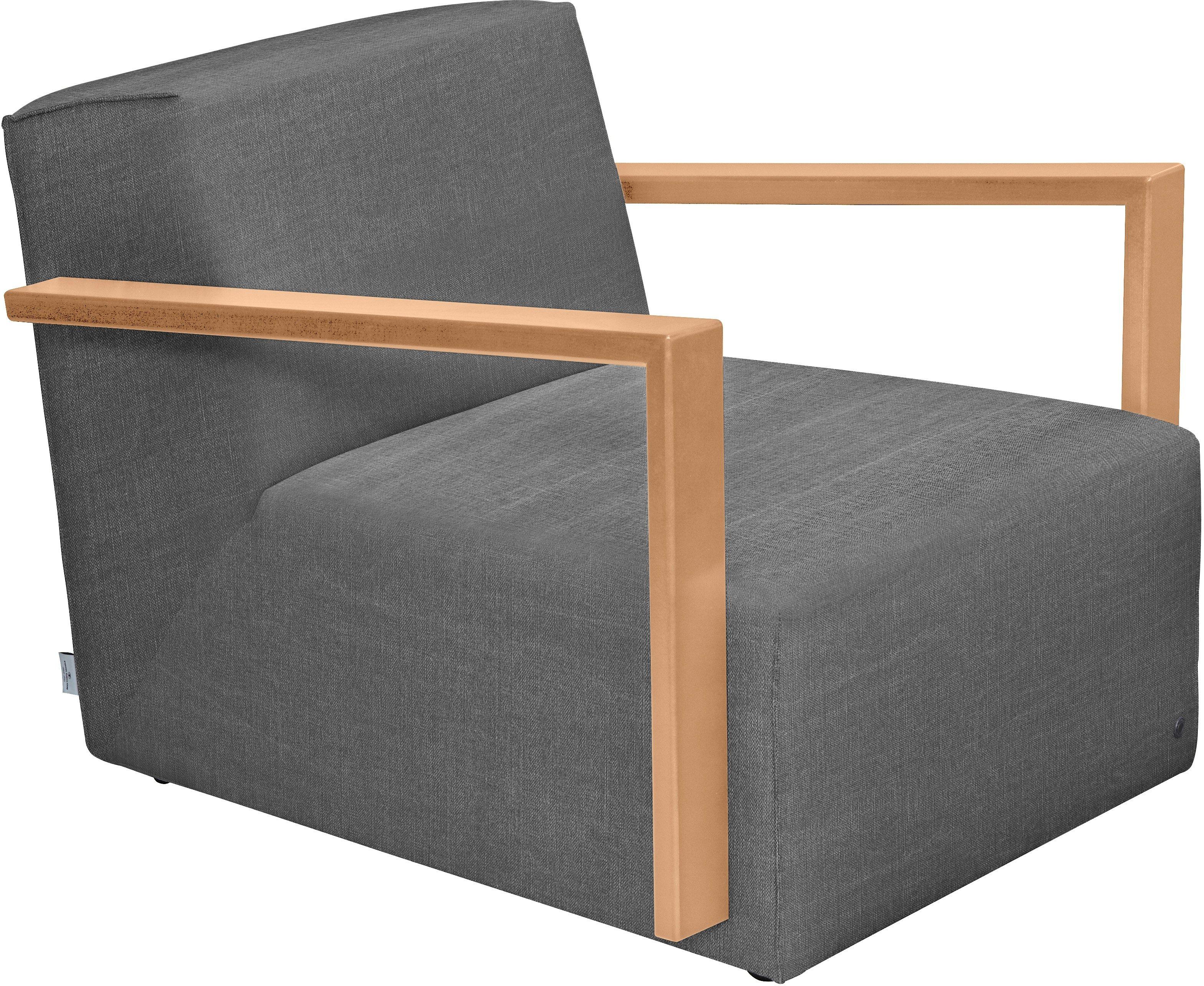 tom tailor loungesessel mit armlehne lazy im retrolook armlehne buche natur grau online. Black Bedroom Furniture Sets. Home Design Ideas