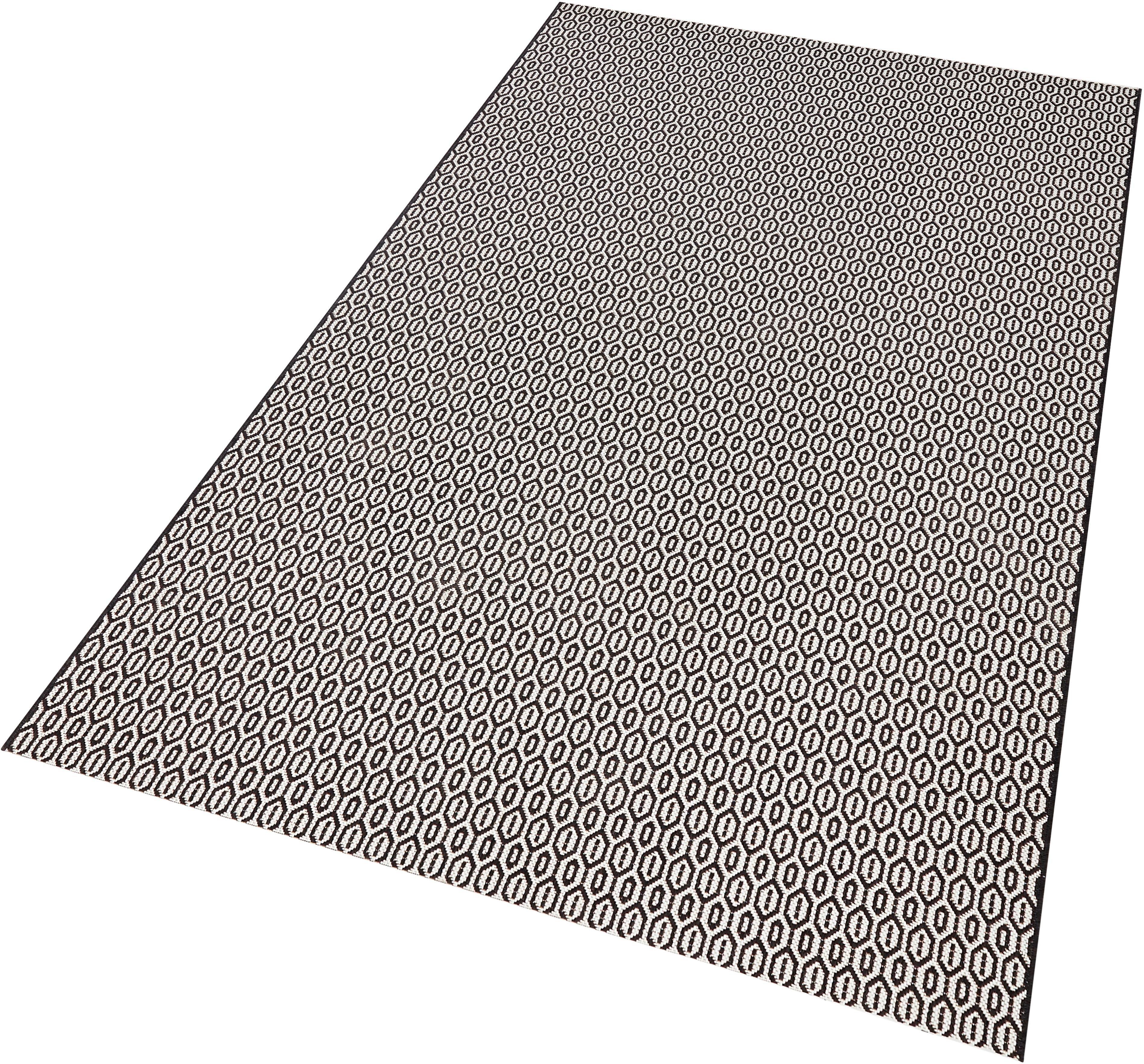 teppich coin bougari rechteckig h he 8 mm in und outdoorgeeignet sisaloptik schwarz l b. Black Bedroom Furniture Sets. Home Design Ideas