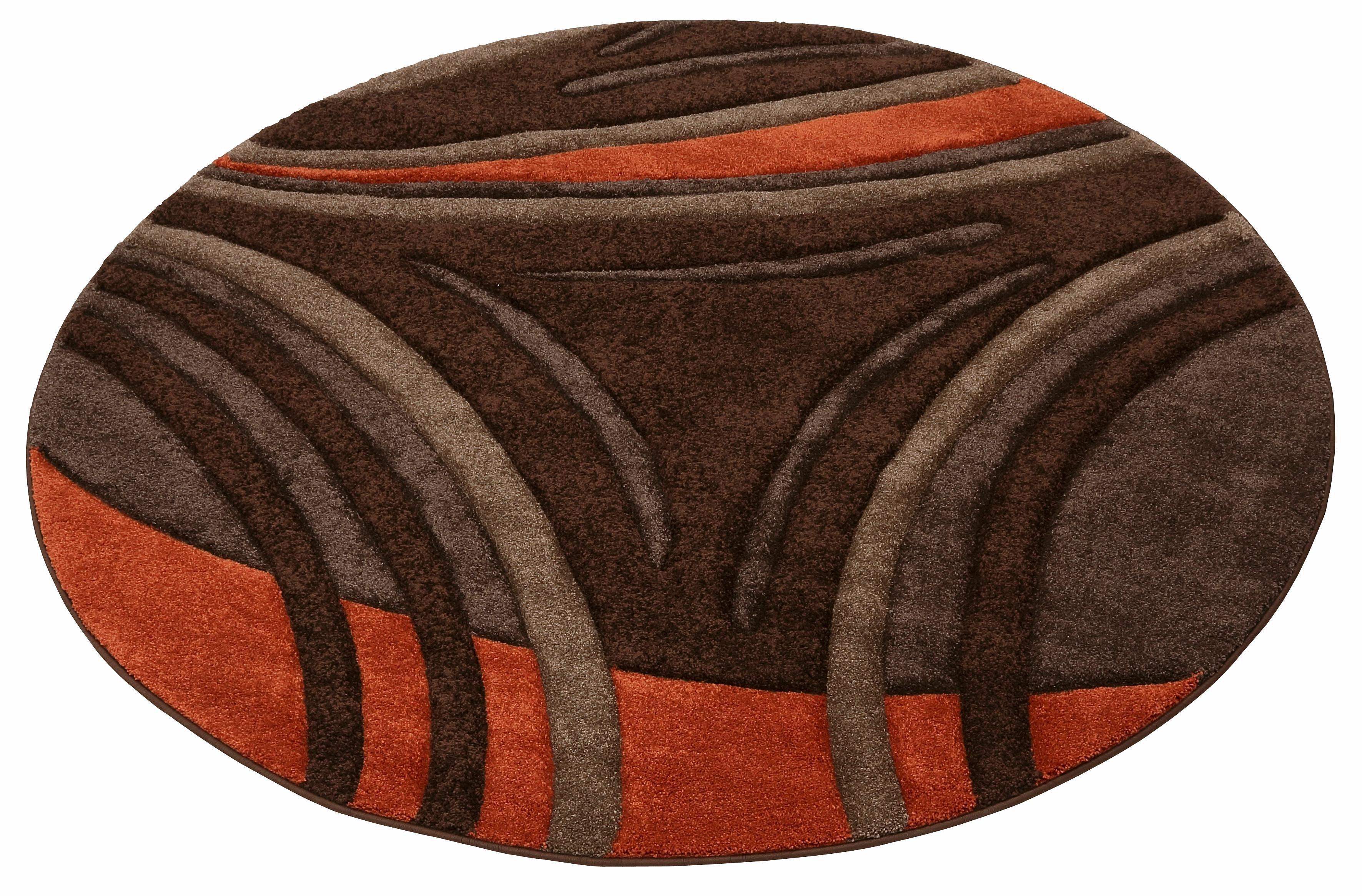 teppich david my home rund h he 20 mm braun 190 cm. Black Bedroom Furniture Sets. Home Design Ideas