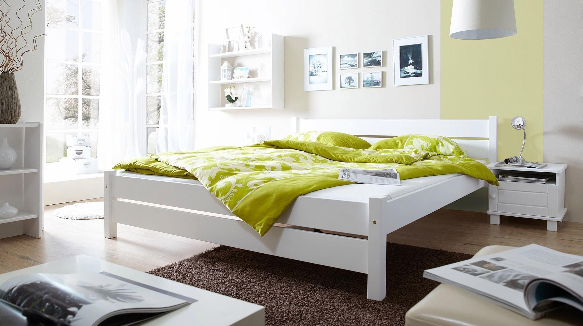 ticaa bett bora in 3 breiten kiefer wei liegefl che 140x200 cm online kaufen bei woonio. Black Bedroom Furniture Sets. Home Design Ideas