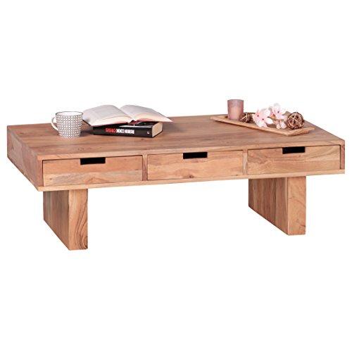 Wohnling couchtisch massivholz design wohnzimmer tisch 110 for Holztisch massiv design