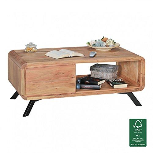WOHNLING-Couchtisch-aus-Massivholz-Wohnzimmertisch-110-x-60-cm-im-Landhaus-Stil-Design-Holz-Tisch-Natur-Produkt-Echt-Holz-Massivholztisch-mit-Schubladen-Wohnzimmer-Mbel-Kaffeetisch-0