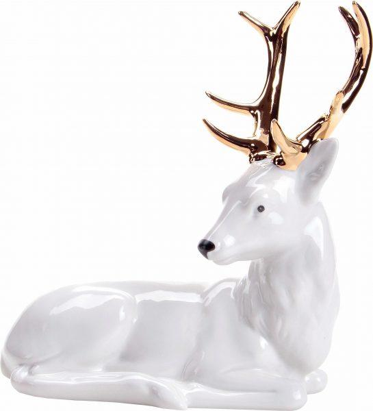 Wagner & Apel Figur »Hirsch« aus Porzellan weiß