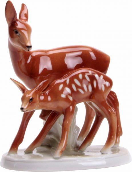 Wagner & Apel Figur »Reh« aus Porzellan braun