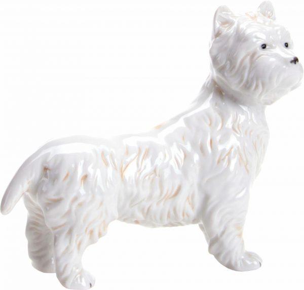 Wagner & Apel Figur »Westie« aus Porzellan weiß