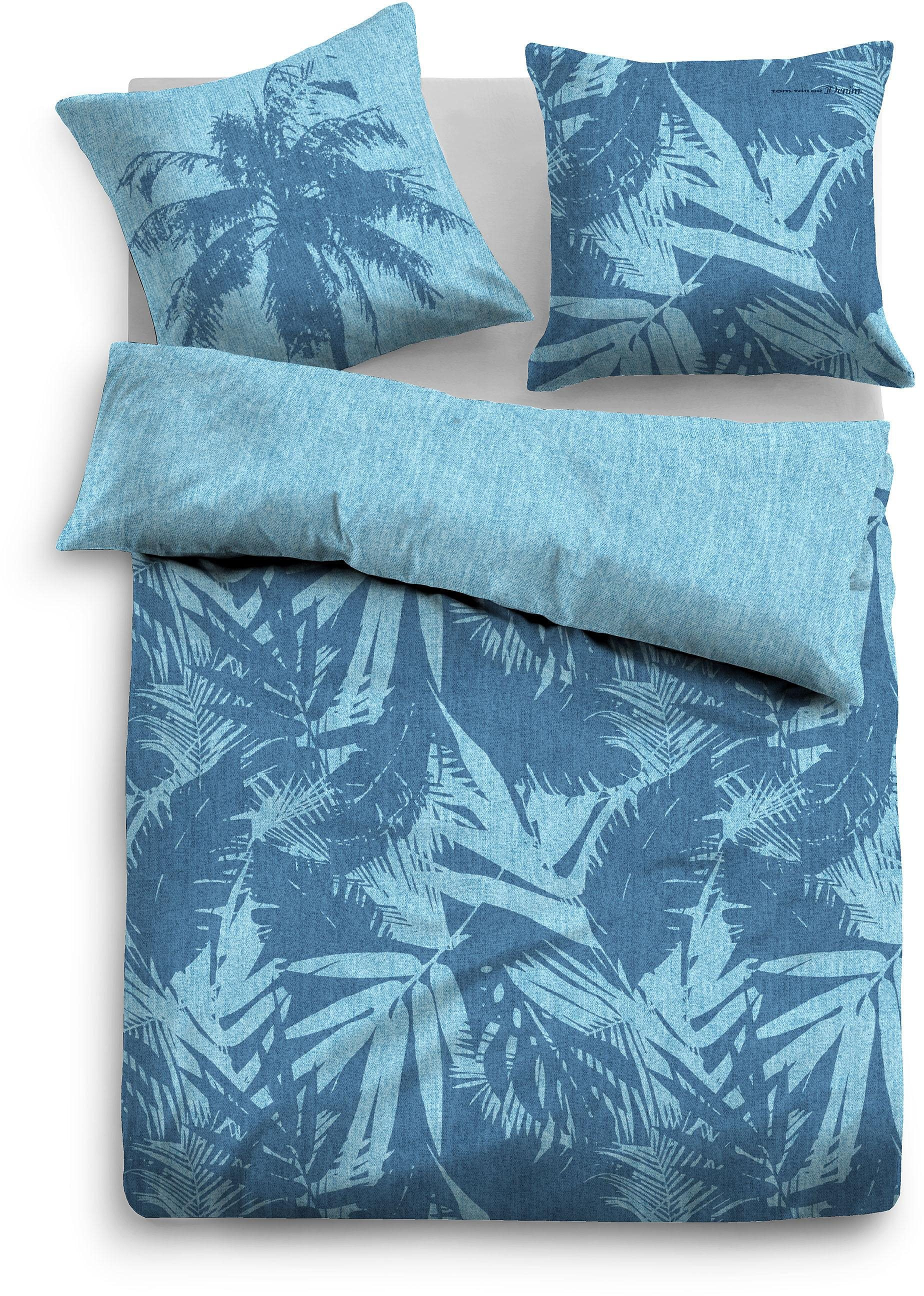 Wendebettwäsche Tom Tailor Palm Tree Mit Palmen Motiven Blau