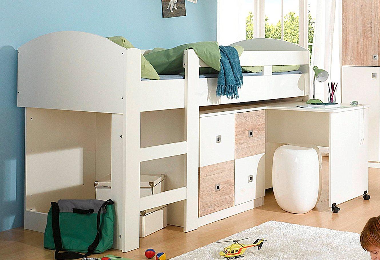 wimex halbhohes bett split natur online kaufen bei woonio. Black Bedroom Furniture Sets. Home Design Ideas