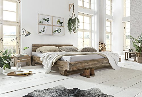 woodkings bett 180x200 mayfield doppelbett akazie rustic schlafzimmer massivholz design. Black Bedroom Furniture Sets. Home Design Ideas