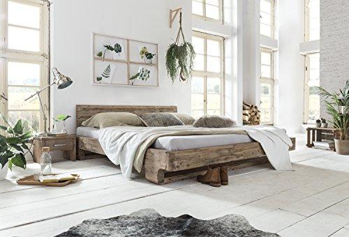 Woodkings® Bett 180x200 Mayfield Doppelbett Akazie weiß gebürstet  Schlafzimmer Massivholz Design Doppelbett massive Naturmöbel Echtholzmöbel  ...