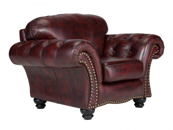 massivum Sessel aus Echtleder »Bolton « rot