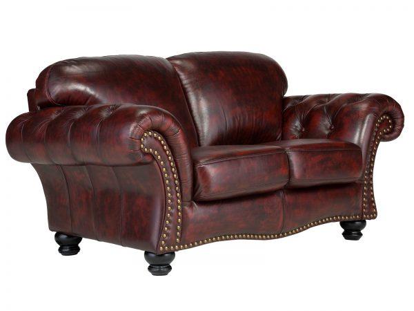 massivum Sofa aus Echtleder »Bolton « rot