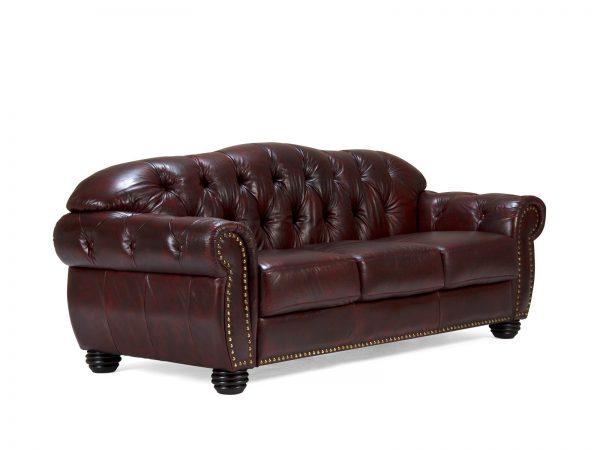 massivum Sofa aus Echtleder »Cardiff « rot