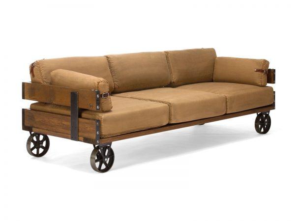 massivum Sofa aus Flachgewebe »Yakima« braun