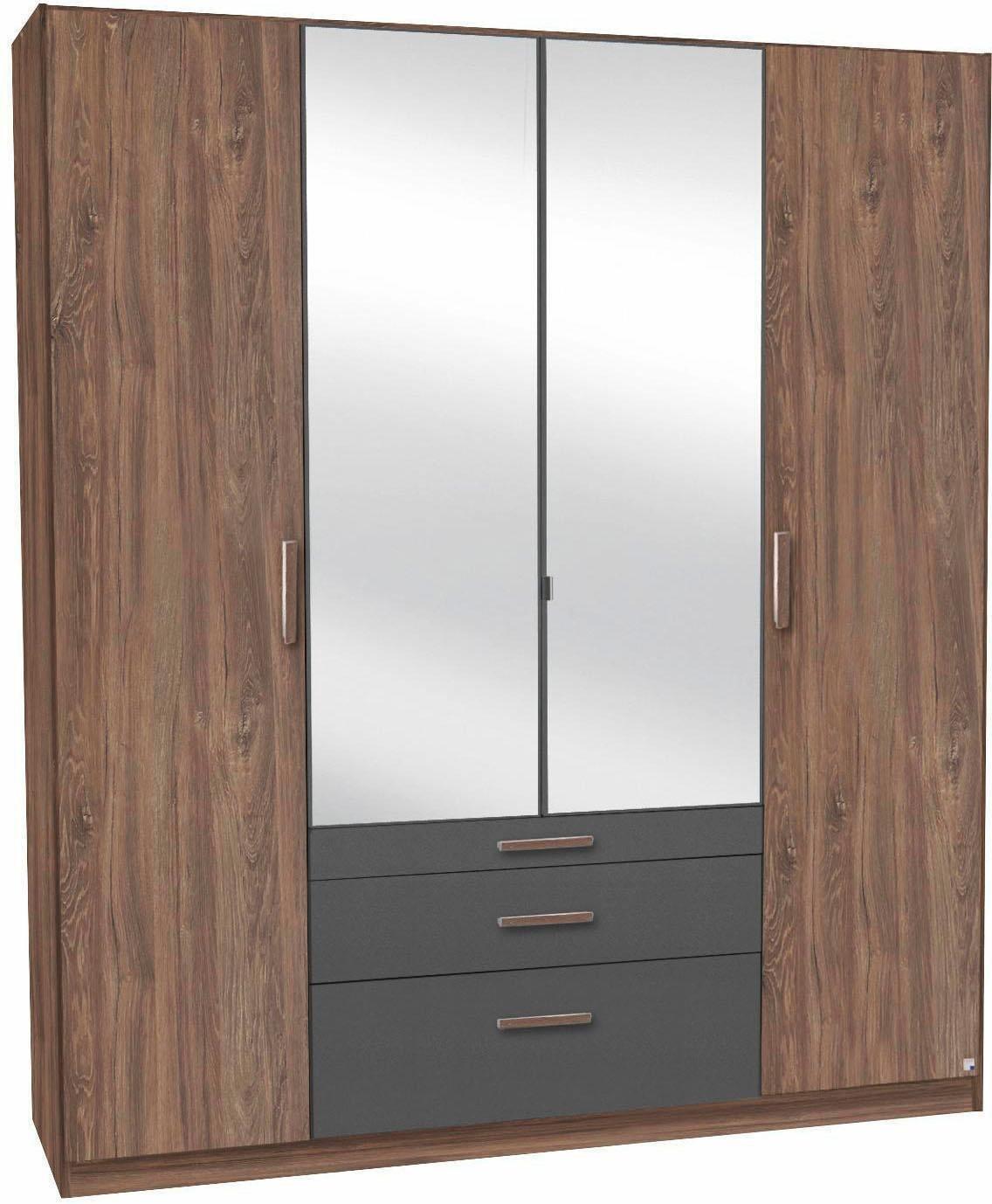 rauch pack s kleiderschrank grau online kaufen bei woonio. Black Bedroom Furniture Sets. Home Design Ideas