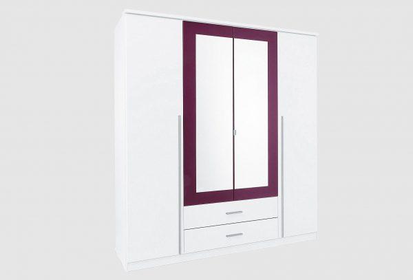 rauch pack s kleiderschrank lila online kaufen bei woonio. Black Bedroom Furniture Sets. Home Design Ideas