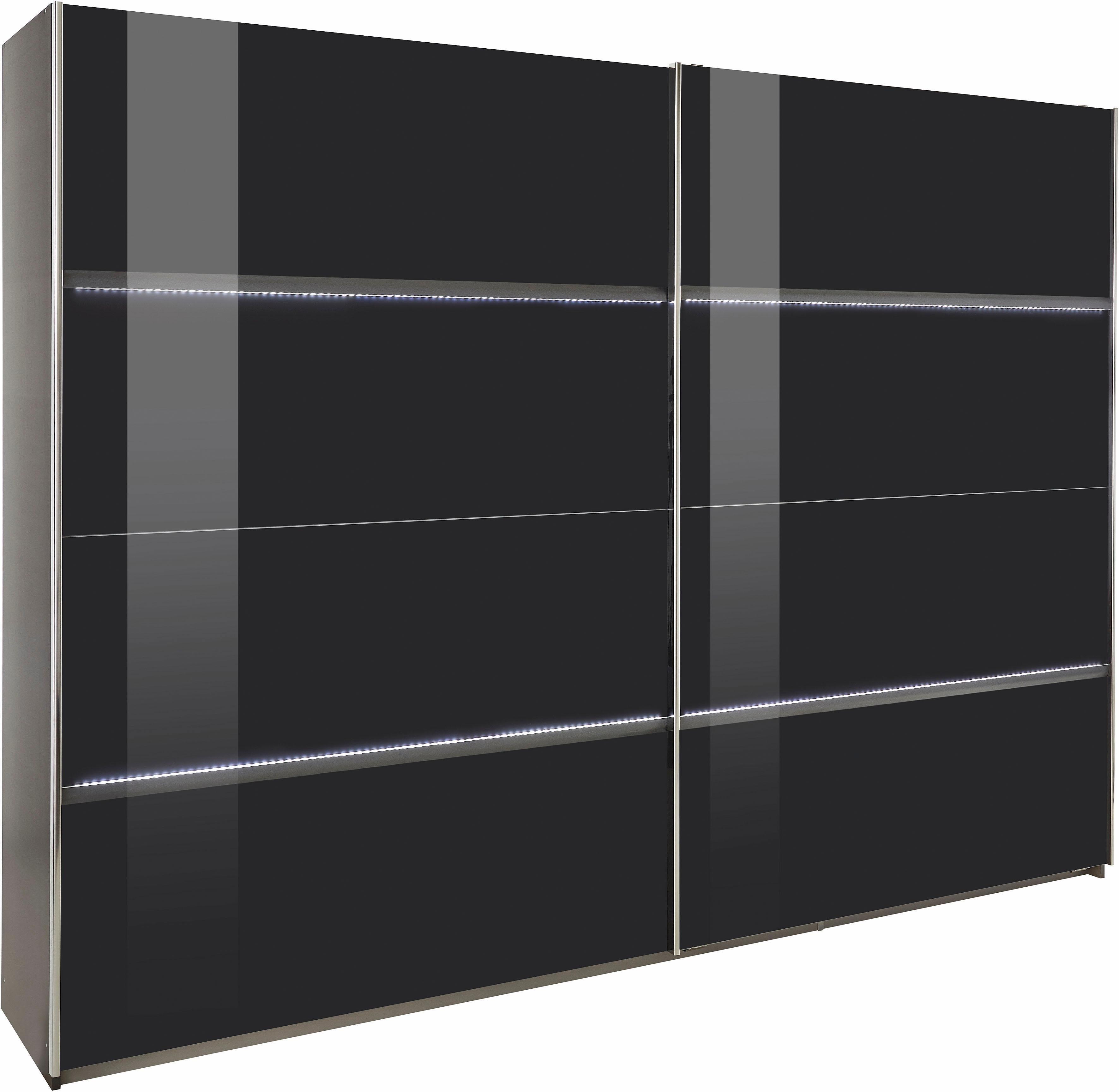 rauch pack s schwebet renschrank mit led beleuchtung grau online kaufen bei woonio. Black Bedroom Furniture Sets. Home Design Ideas