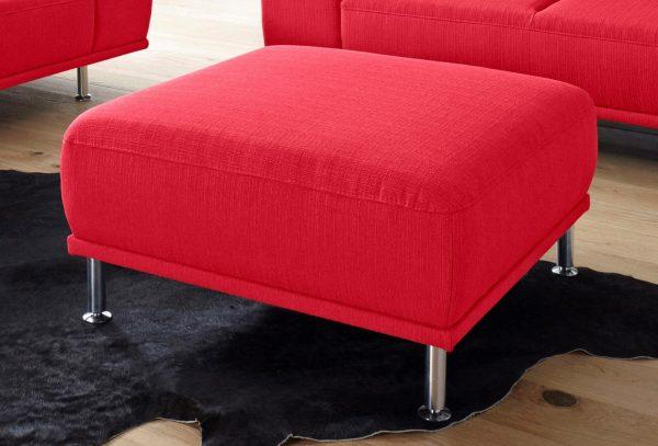 sit&more Hocker mit Federkern rot