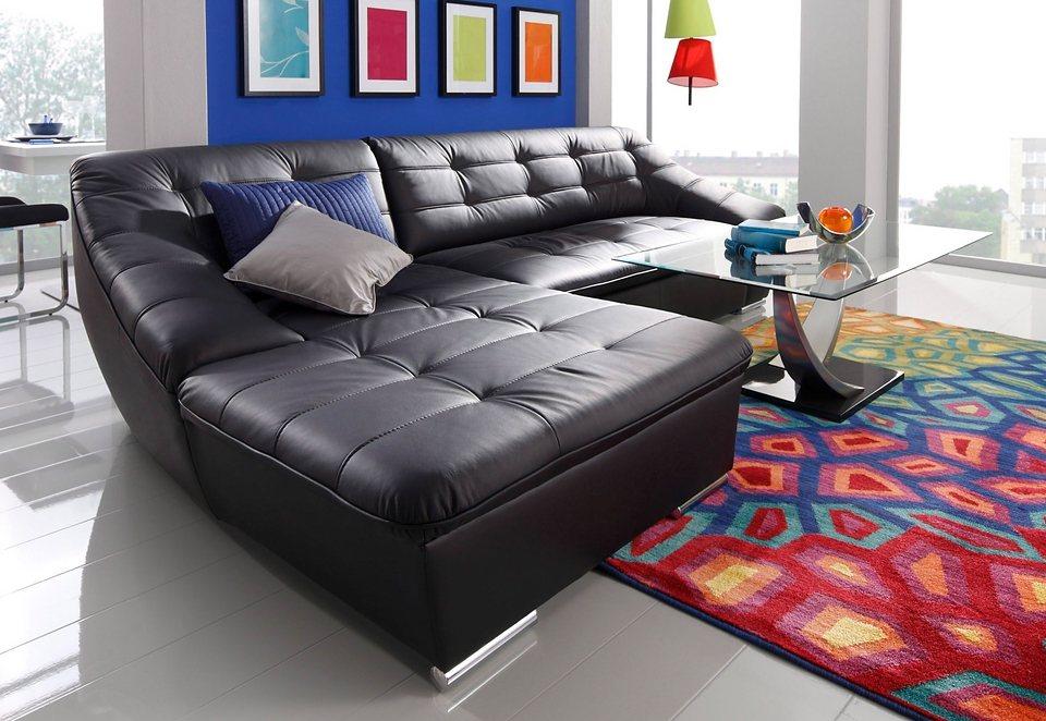 sit more polsterecke wahlweise mit bettfunktion schwarz online kaufen bei woonio. Black Bedroom Furniture Sets. Home Design Ideas