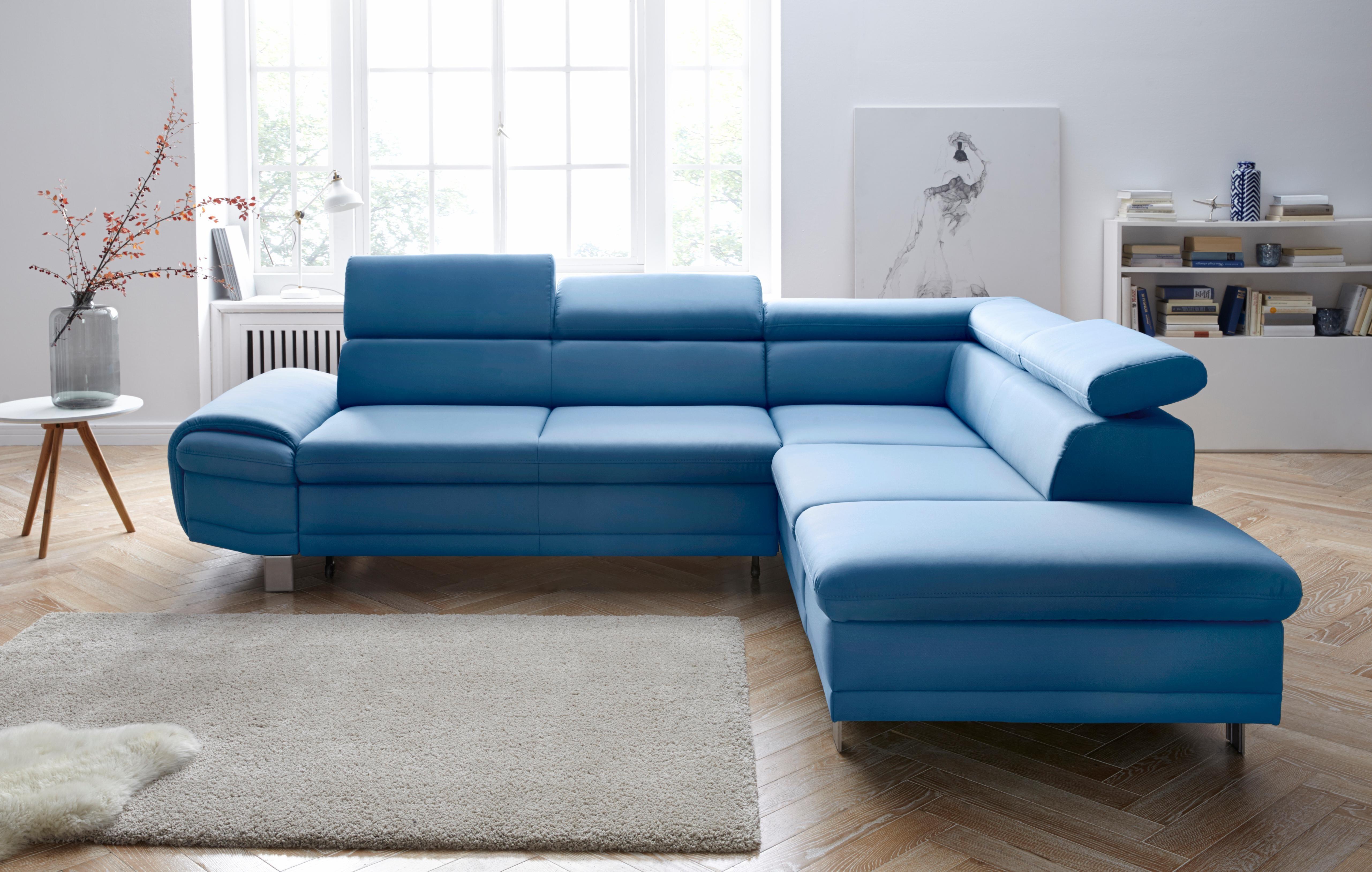 sit more polsterecke wahlweise mit bettfunktion und bettkasten blau online kaufen bei woonio. Black Bedroom Furniture Sets. Home Design Ideas