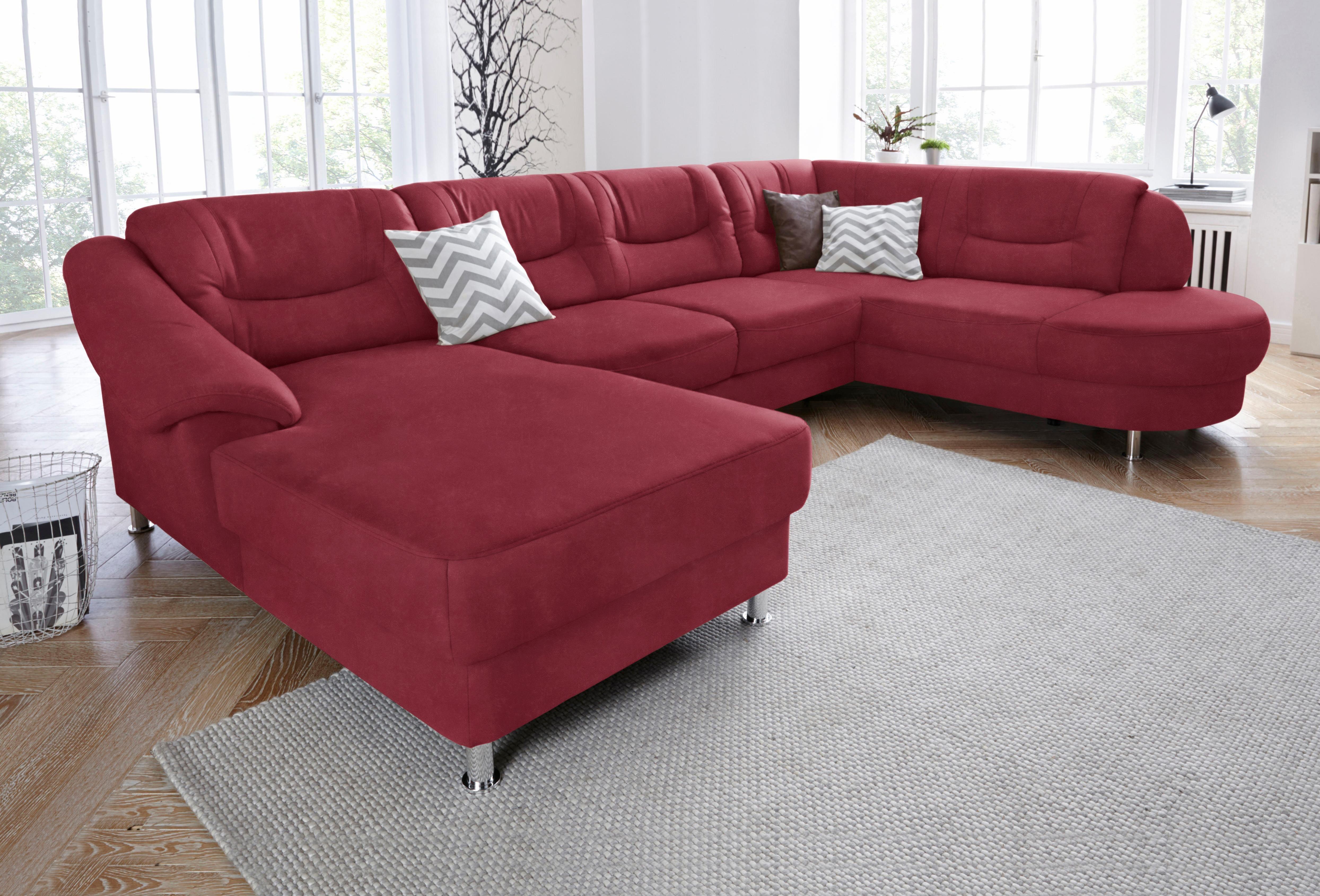 sit more wohnlandschaft mit federkern wahlweise mit bettfunktion rot online kaufen bei woonio. Black Bedroom Furniture Sets. Home Design Ideas