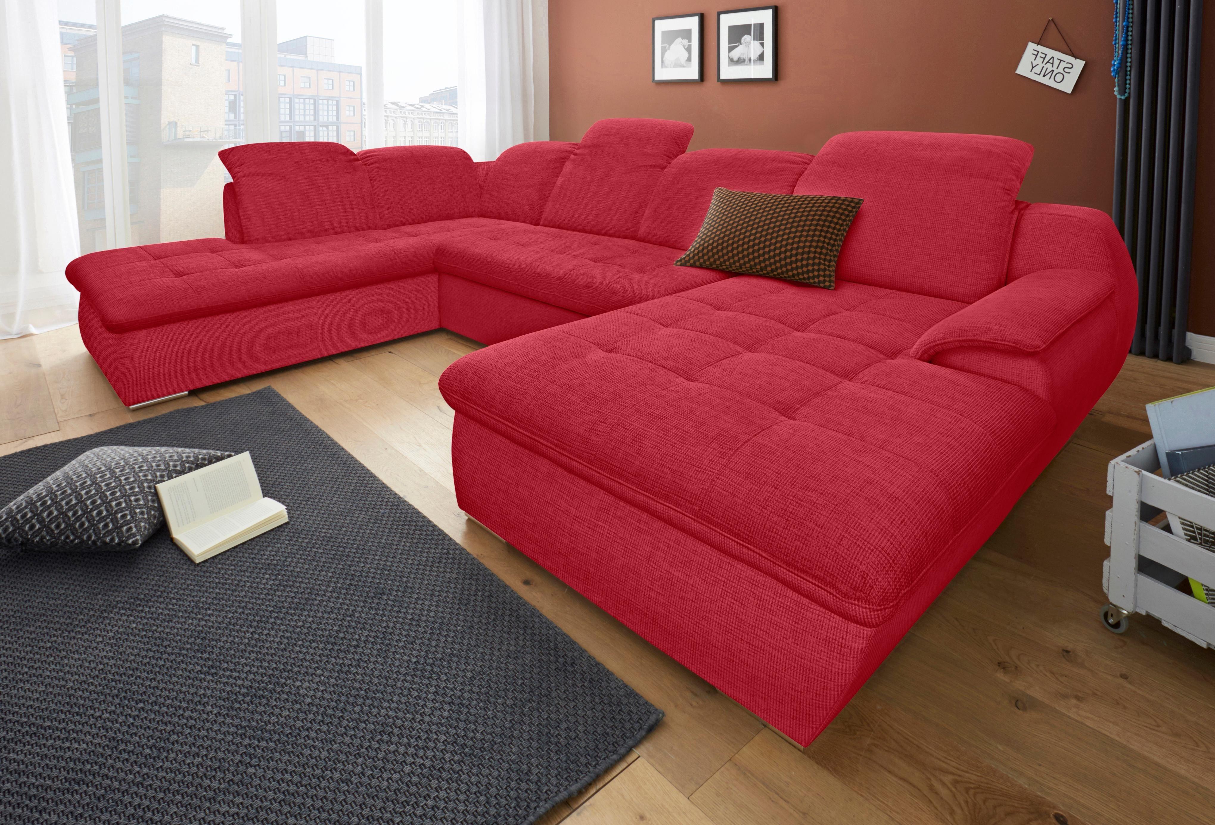 Sit More Wohnlandschaft Wahlweise Mit Bettfunktion Rot Online