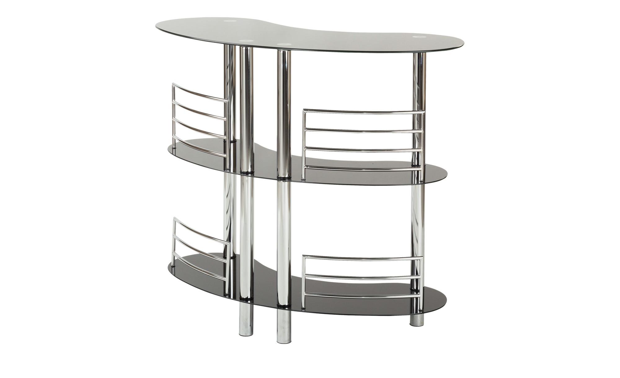 bar metall glas mit abstellfl chen diego breite 120 cm h he 106 cm schwarz online kaufen bei. Black Bedroom Furniture Sets. Home Design Ideas
