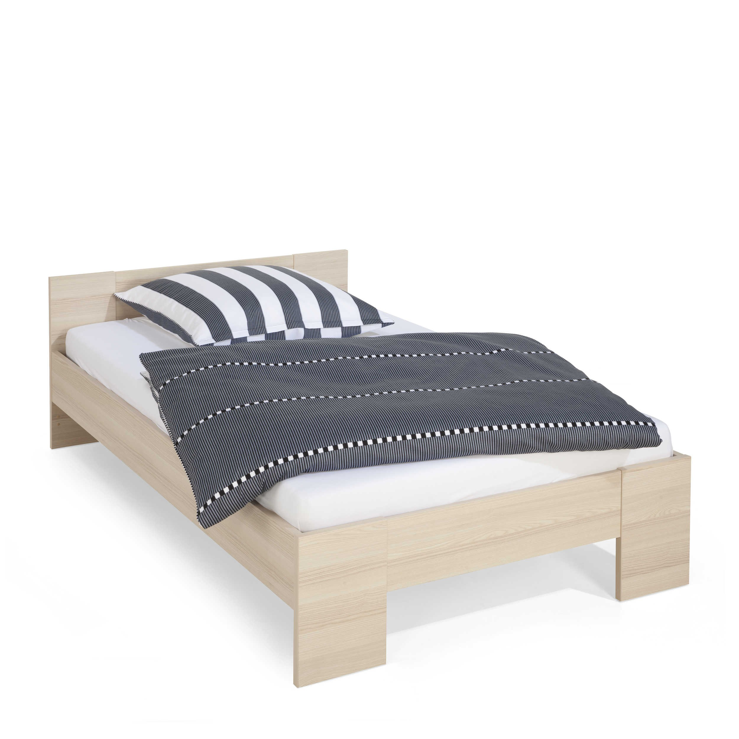 composad bett calisma 120 x 200 cm esche holzoptik online. Black Bedroom Furniture Sets. Home Design Ideas