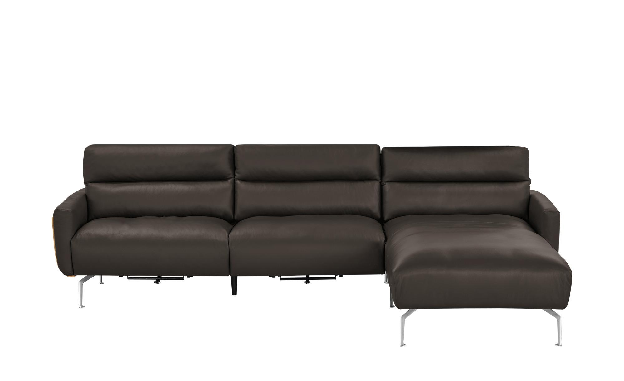 Ecksofa 2252 breite h he 90 cm braun online kaufen bei for Ecksofa breite 200 cm