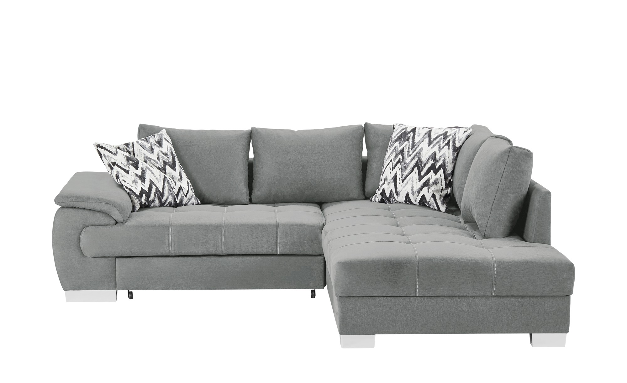 ecksofa brenda breite h he 83 cm silber online kaufen bei woonio. Black Bedroom Furniture Sets. Home Design Ideas