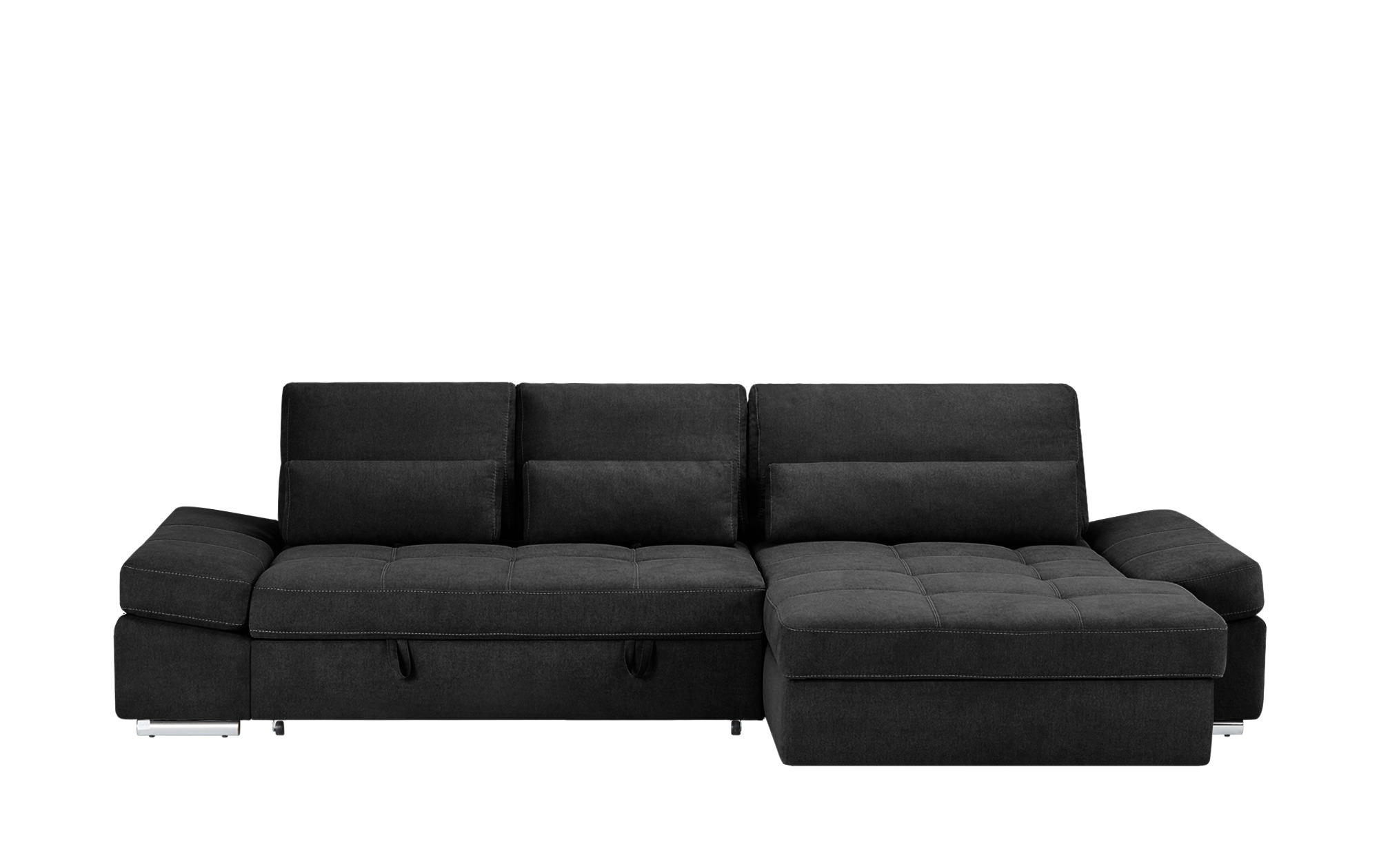 Ecksofa hudson breite h he 95 cm schwarz online kaufen for Ecksofa breite 200 cm